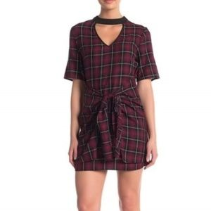 NWT BCBGeneration Plaid Front Tie Dress - Sm & Med